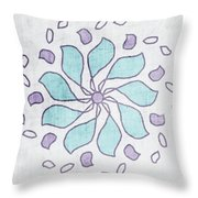 Boho Floral Mandala 4- Art By Linda Woods Throw Pillow