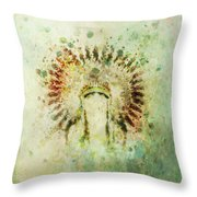 Boho Headdress Throw Pillow