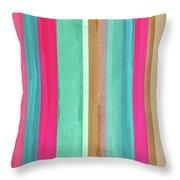 Boho Stripe- Art By Linda Woods Throw Pillow