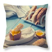 Boiled Egg Throw Pillow