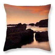 Boiler Bay Sunset Throw Pillow