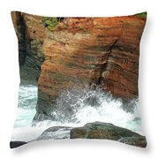 Boiler Bay Waves Throw Pillow