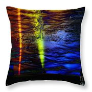 Boiling Colors Throw Pillow