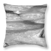 Boiling Mudpot - Artist' Paint Pots Yellowstone National Park Wy Usa Throw Pillow