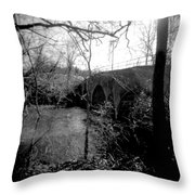 Boiling Springs Bridge Throw Pillow