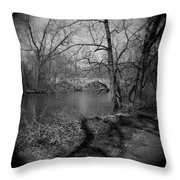 Boiling Springs Stone Bridge Throw Pillow