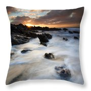 Boiling Tides Throw Pillow