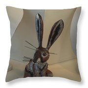 Boink Rabbit Throw Pillow