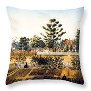Bois De Fleche Plantation Louisiana 1861 Throw Pillow