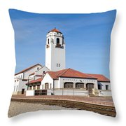 Boise Depot-elevation 2753 Throw Pillow