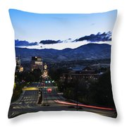 Boise Skyline In Early Morning Hours Throw Pillow