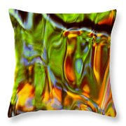 Boisterous Bellows Of Colors Throw Pillow