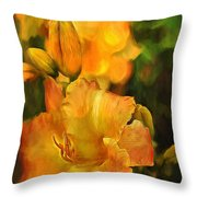 Bokah Lily Throw Pillow