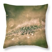 Bokeeh Of Pearls Throw Pillow