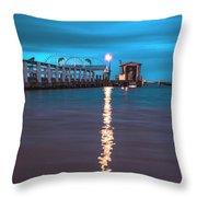 Bokeelia Pier Throw Pillow