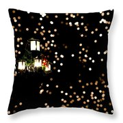 Bokeh Lantern Throw Pillow