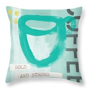Bold And Strong In Blue- Art By Linda Woods Throw Pillow
