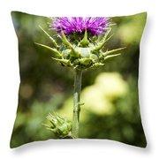 Bold Artichoke Thistle Throw Pillow