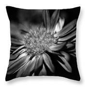 Bold Black And White Flower Throw Pillow