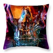 Bold Bone Structure Throw Pillow