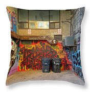 Bold Color In A Dank Corner Throw Pillow