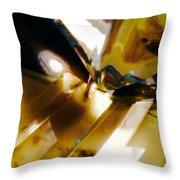 Bold Golden Glow Throw Pillow
