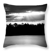 Bold Rays Monochrome Throw Pillow