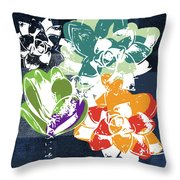 Bold Succulents 1- Art By Linda Woods Throw Pillow