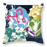 Bold Succulents 2- Art By Linda Woods Throw Pillow by Linda Woods