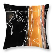 Bold White Lines One Throw Pillow