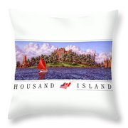 Boldt's Castle Poster Throw Pillow