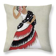 Bolero Costume Throw Pillow