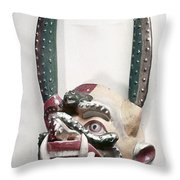 Bolivia: Native Mask Throw Pillow