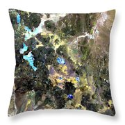 Bolivian Andes From Space Throw Pillow