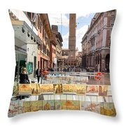 Bologna Artworks Of The City Hanging In  Throw Pillow