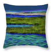 Bolsa Chica Wetlands I Abstract 1 Throw Pillow