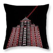 Bolt Out Of Blackness Throw Pillow
