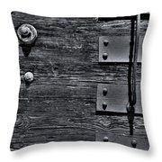 Bolted Wood Throw Pillow
