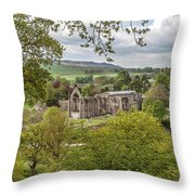 Bolton Abbey In Spring Throw Pillow