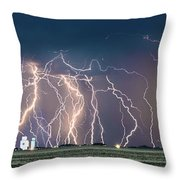 Bolts Over Bushland Throw Pillow