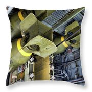 Bomb Carriage Wwii  Throw Pillow