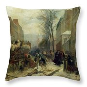 Bombardment Of Paris In 1871 Throw Pillow