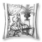 Bombay Monkey I Throw Pillow