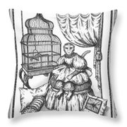 Bombay Monkey II Throw Pillow