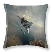 Bombcat Two Throw Pillow