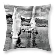 Bomber Attack Throw Pillow