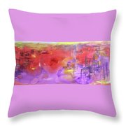 Bombing The Harbor Throw Pillow