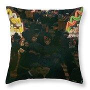 Bon Marche 1898 Throw Pillow