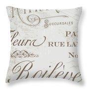 Bon Mots II Throw Pillow