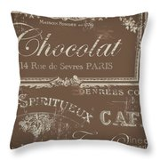 Bon Mots Throw Pillow